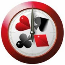 The logo of Talking Poker Timer.